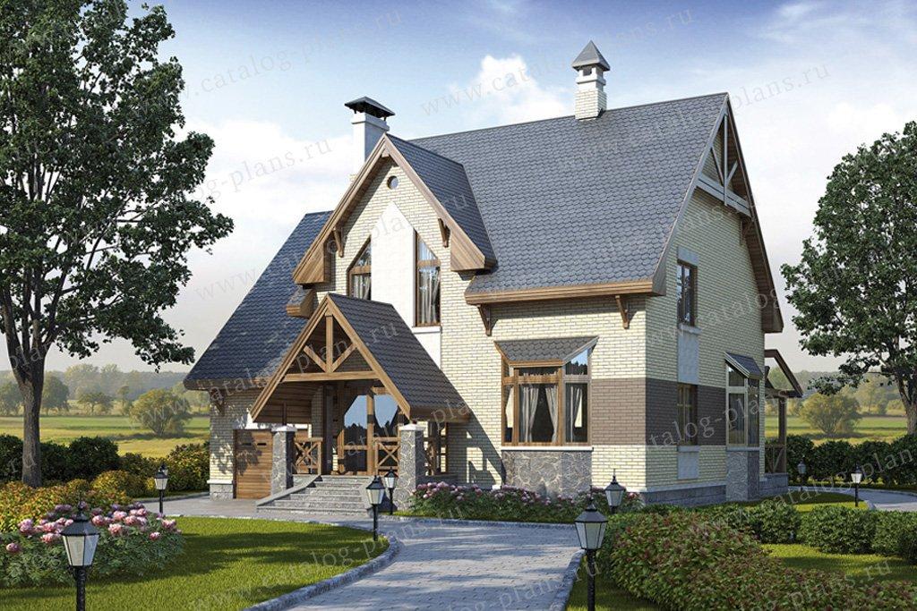 Проект жилой дом #49-13 материал - кирпич, стиль немецкий