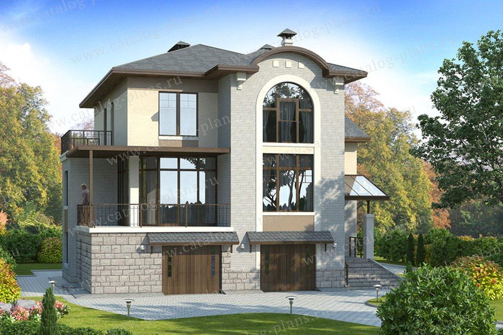 Проект жилой дом #49-17 материал - кирпич, стиль европейский