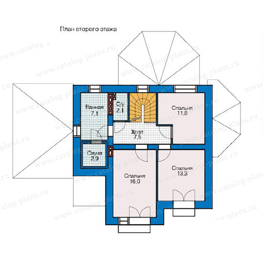 План 2-этажа проекта 49-12