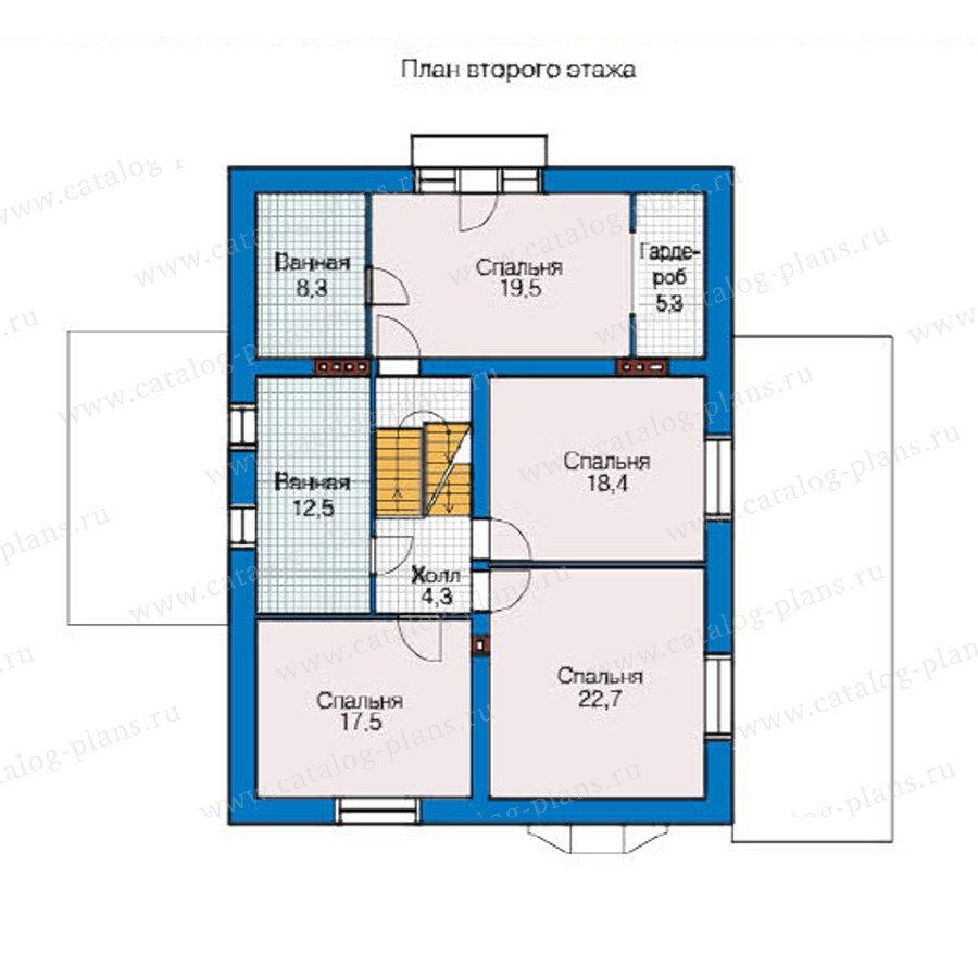 План 2-этажа проекта 49-13