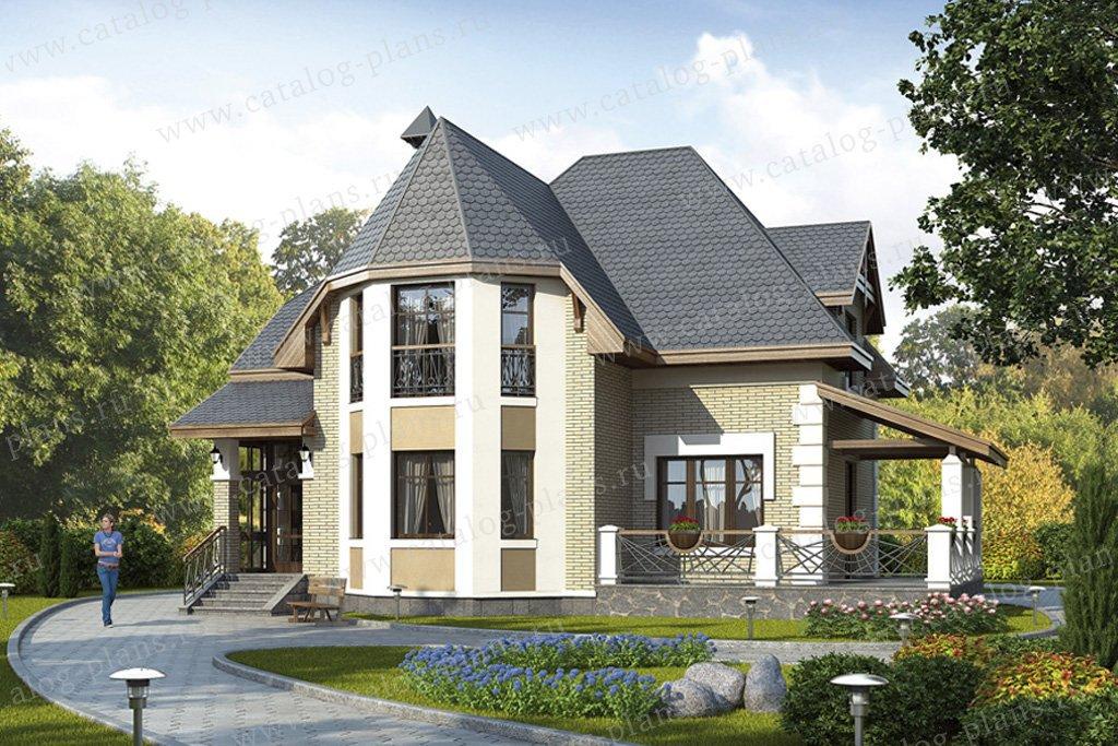 Проект жилой дом #49-14 материал - кирпич, стиль европейский