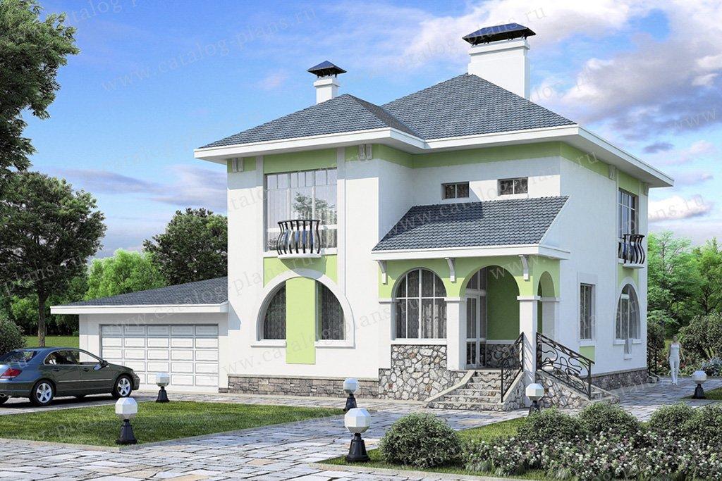 Проект жилой дом #49-11 материал - кирпич, стиль модерн