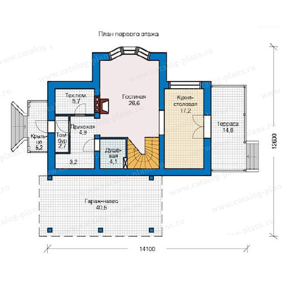 План 1-этажа проекта 49-16