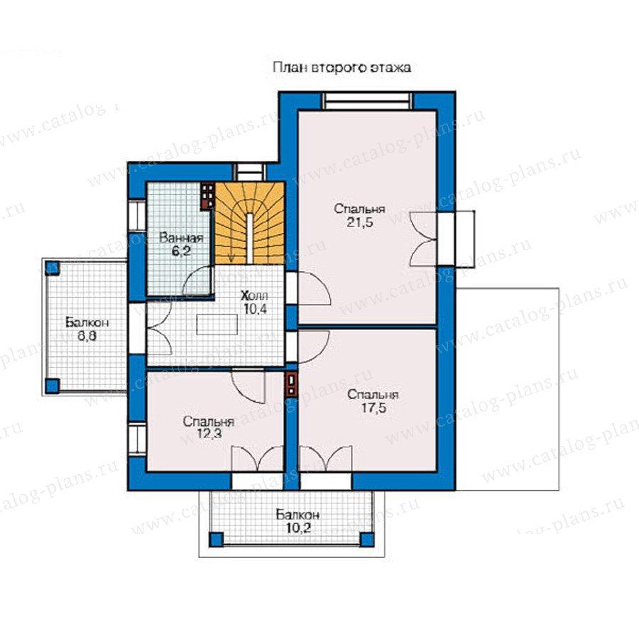 План 2-этажа проекта 49-23