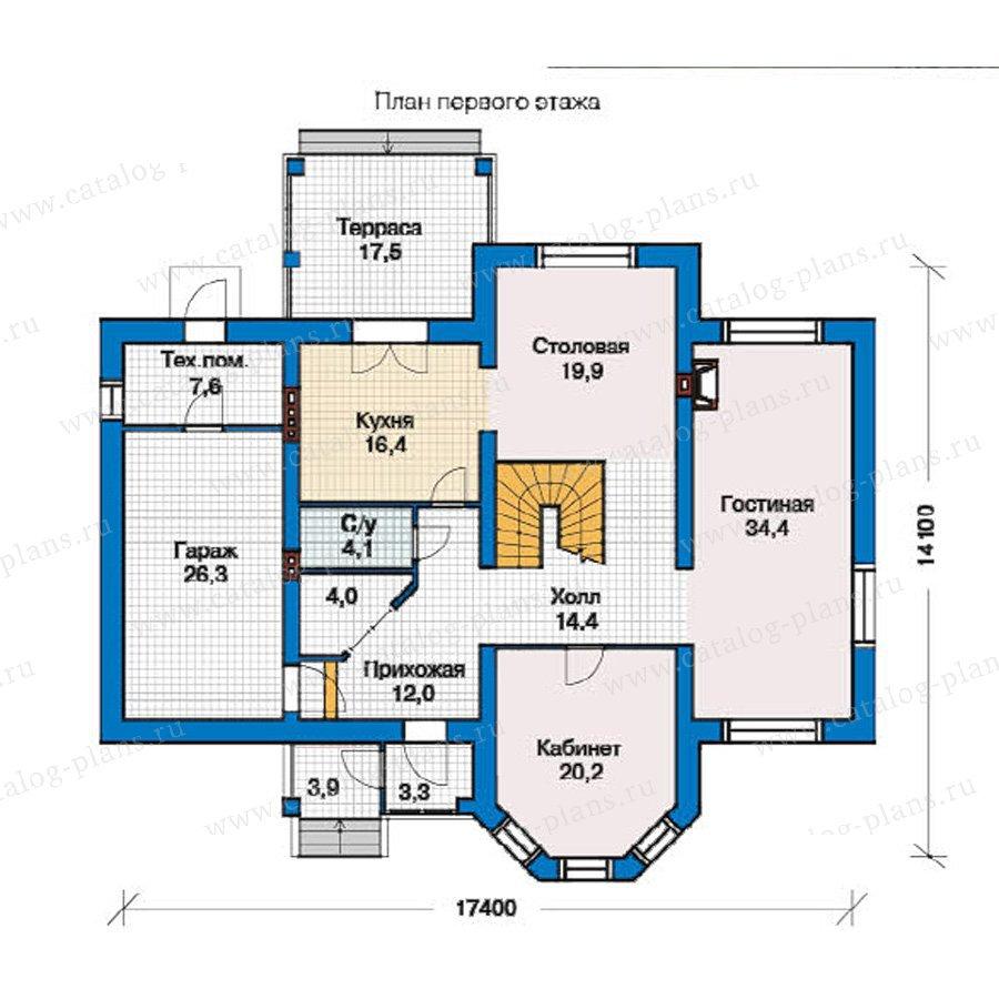 План 1-этажа проекта 49-30
