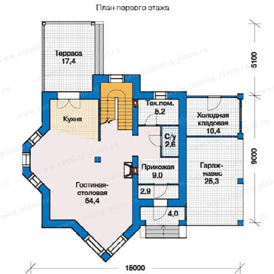 План 1-этажа проекта 49-31