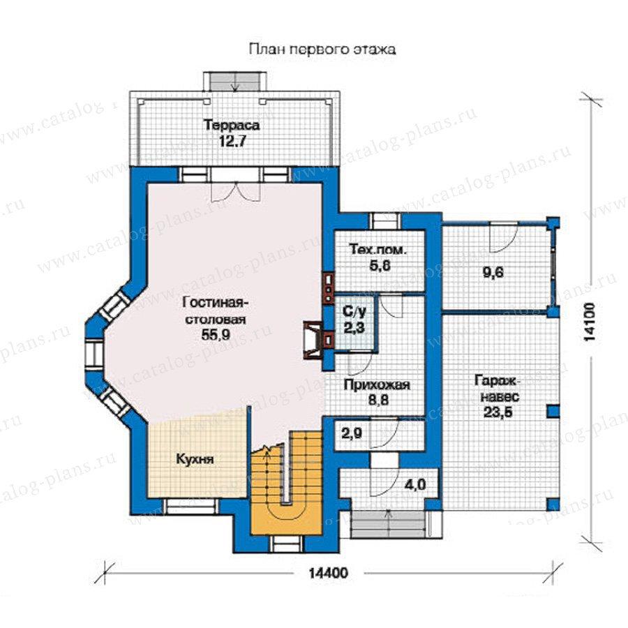 План 1-этажа проекта 49-36