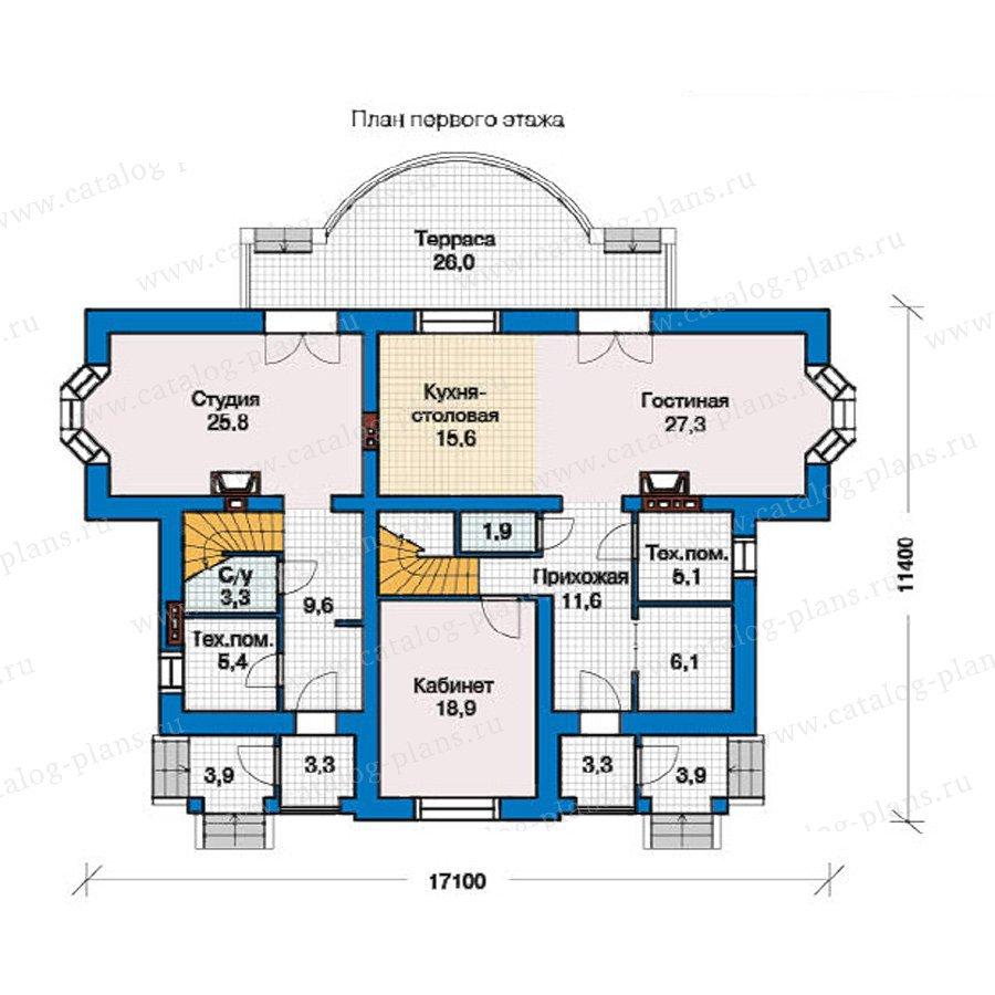 План 1-этажа проекта 49-28