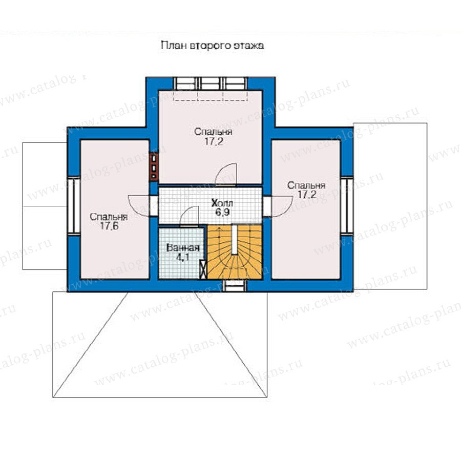 План 2-этажа проекта 49-16