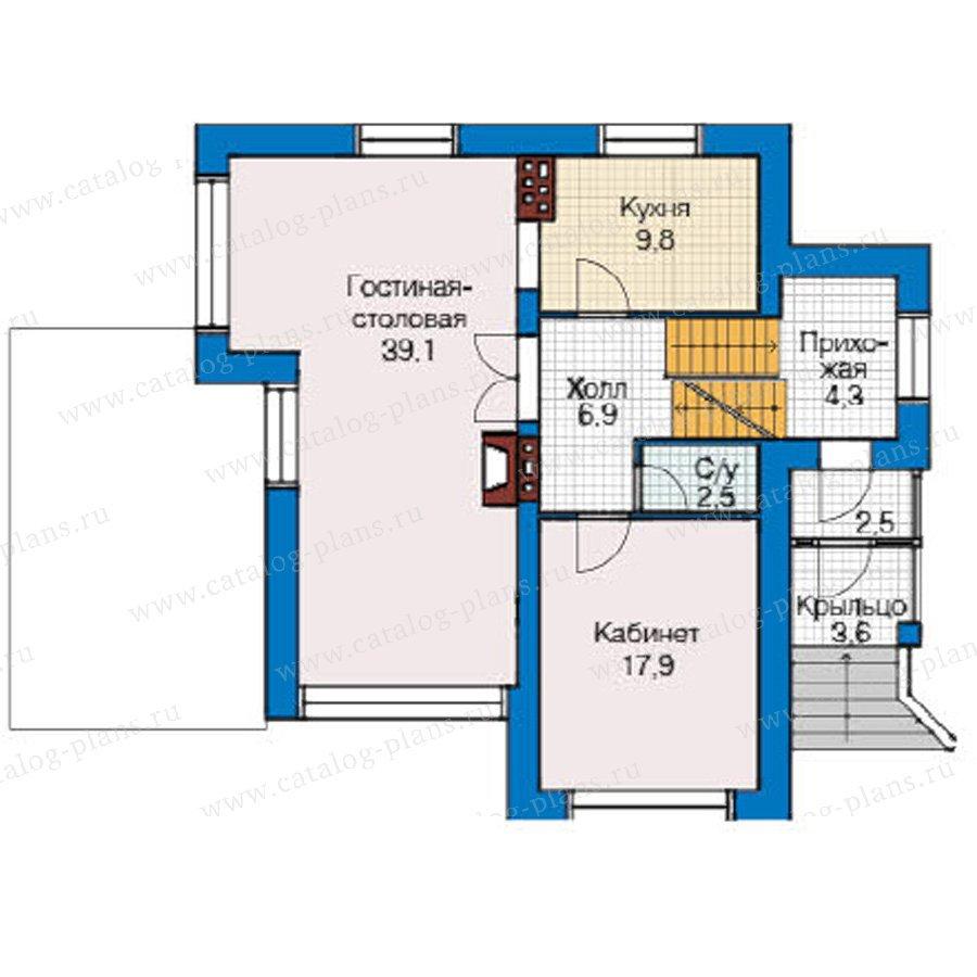 План 2-этажа проекта 49-22