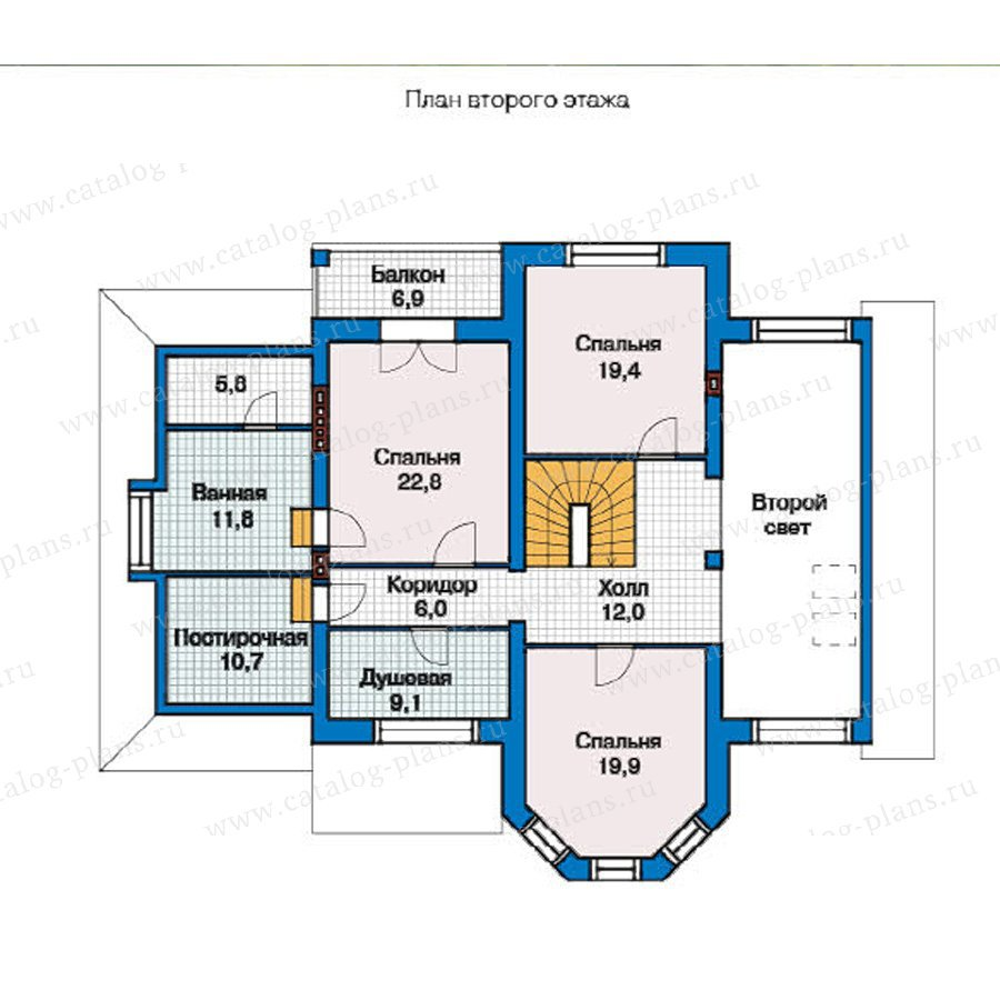 План 2-этажа проекта 49-30