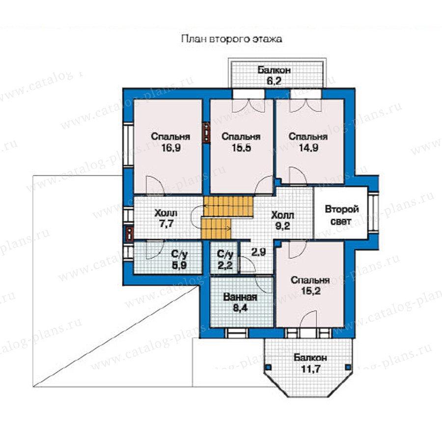 План 2-этажа проекта 49-33