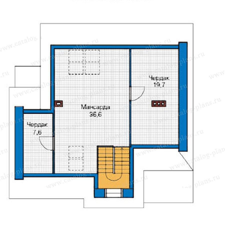 План 3-этажа проекта 49-18