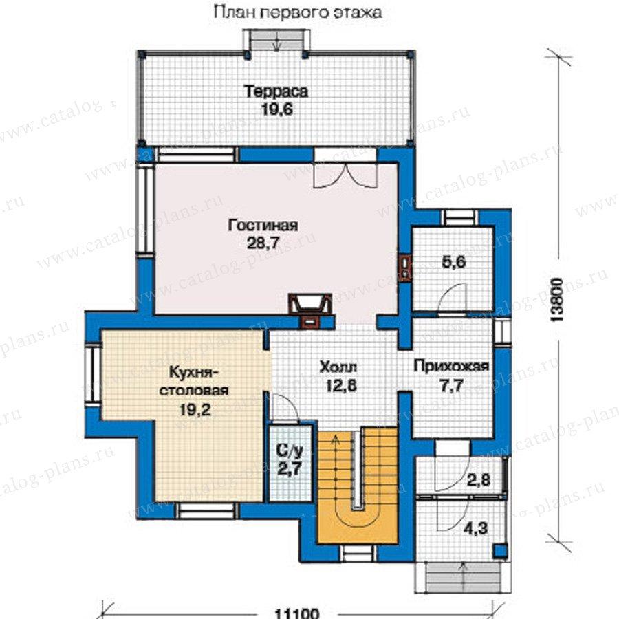 План 1-этажа проекта 49-32