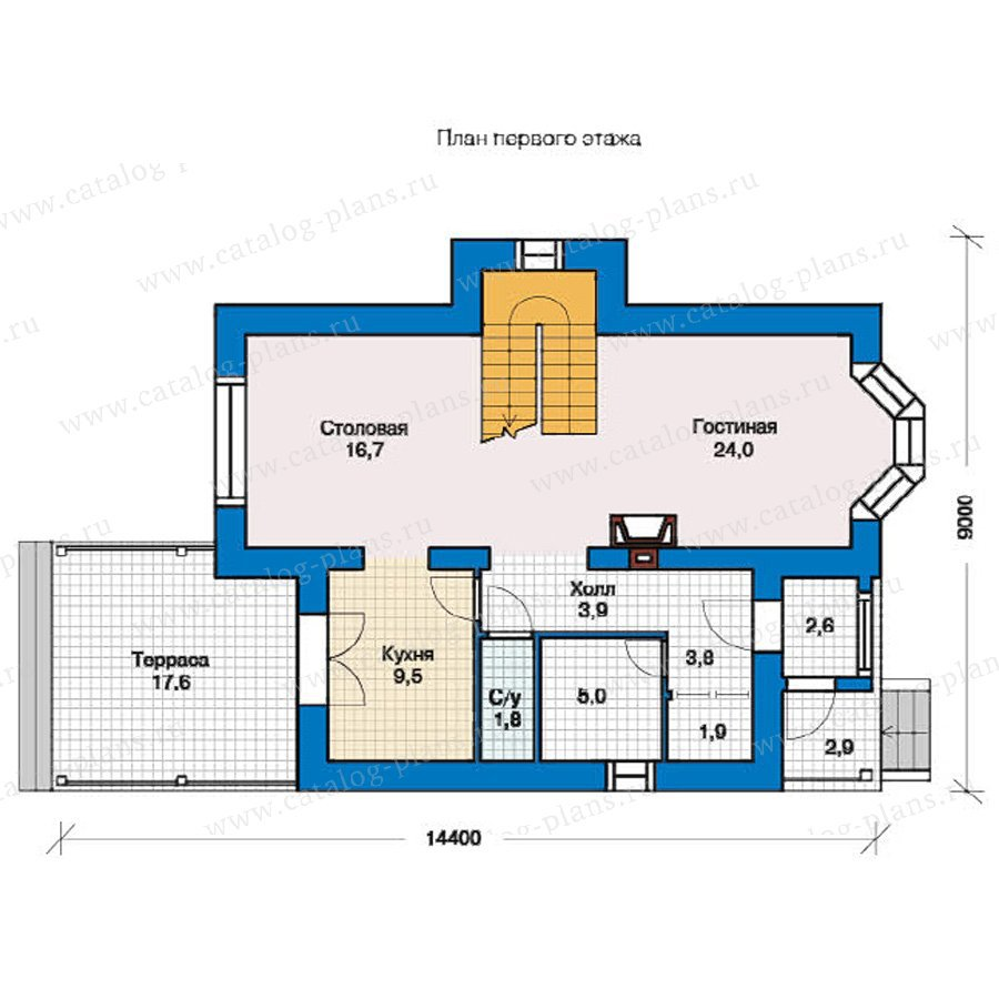 План 1-этажа проекта 49-38