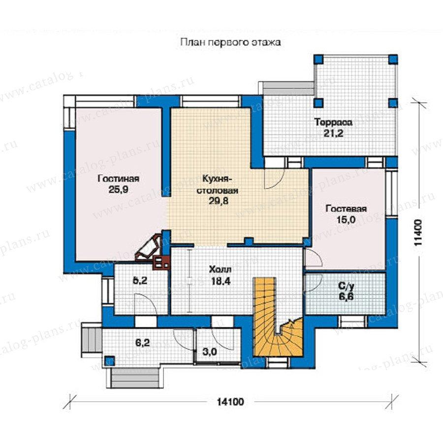 План 1-этажа проекта 49-34