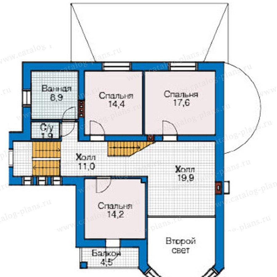 План 2-этажа проекта 49-15
