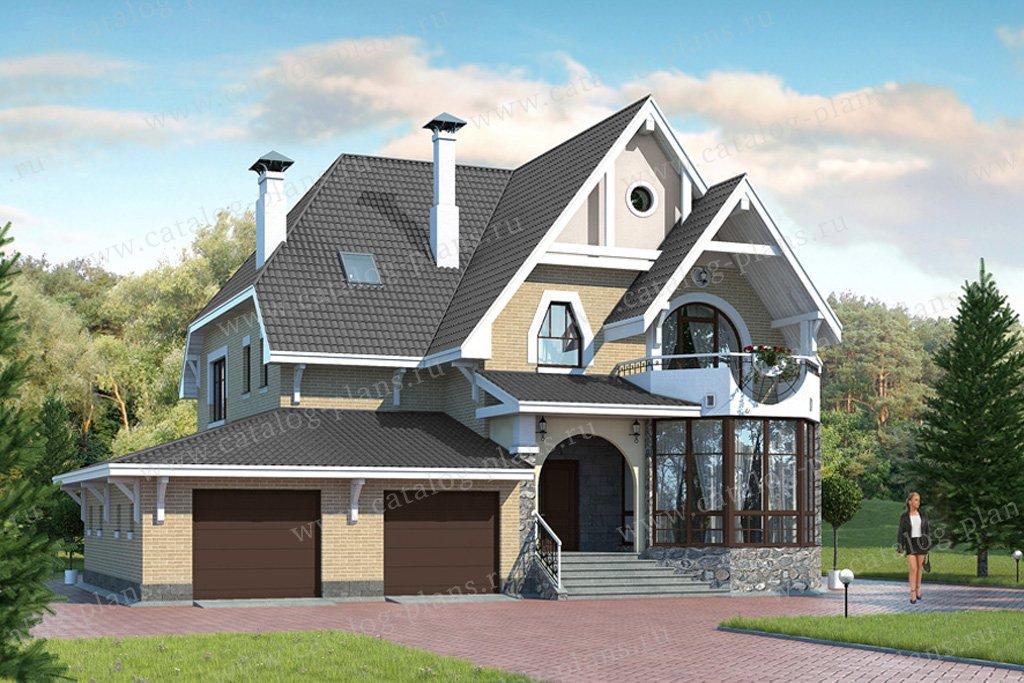 Проект жилой дом #49-33 материал - кирпич, стиль модерн