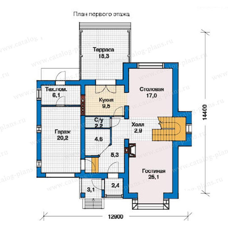 План 1-этажа проекта 49-39