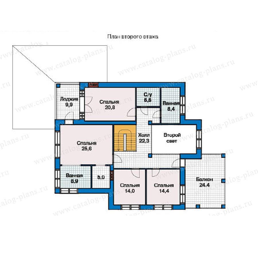 План 2-этажа проекта 49-25
