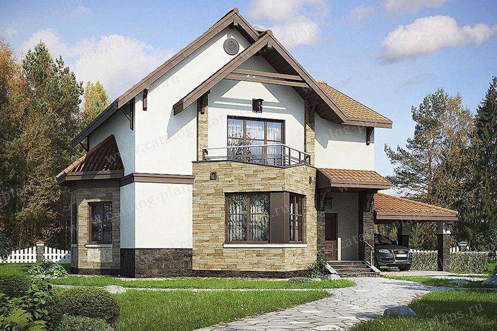 Проект жилой дом #49-31 материал - кирпич, стиль европейский