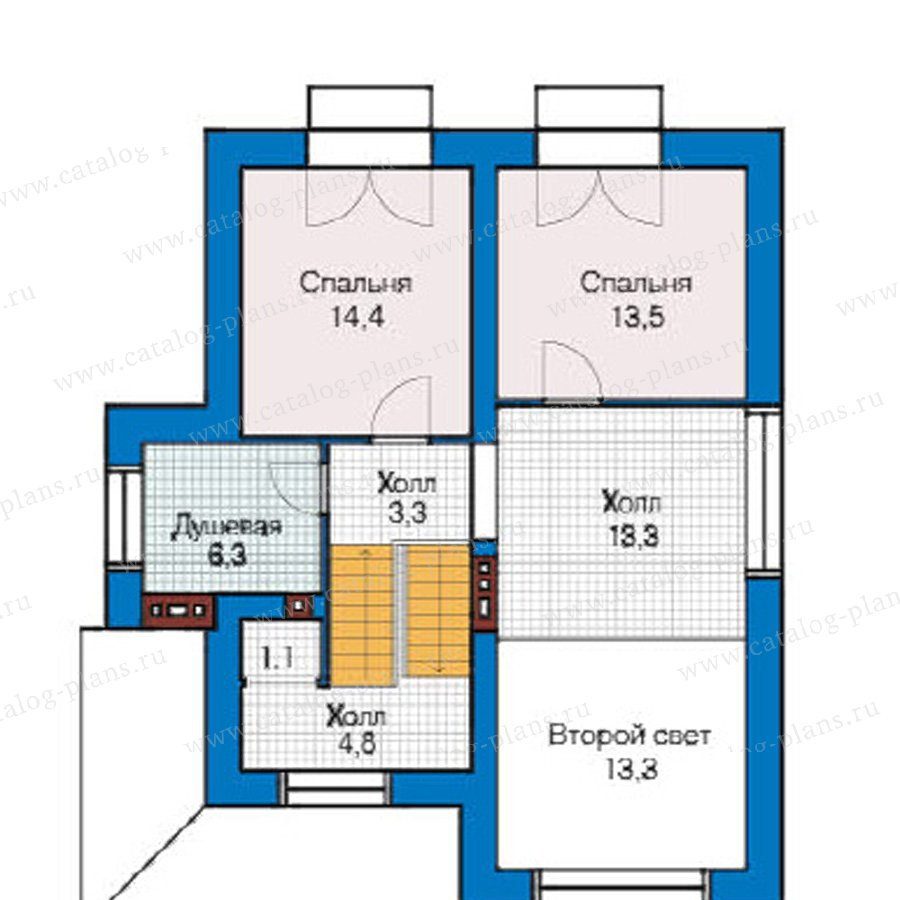 План 3-этажа проекта 49-21