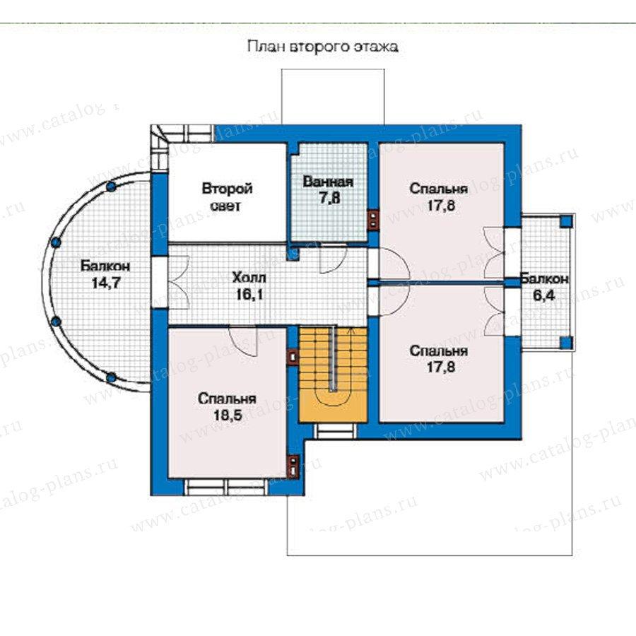 План 2-этажа проекта 49-37