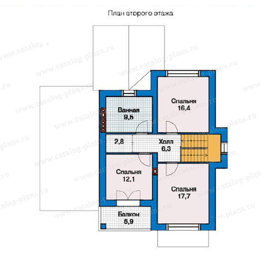 План 2-этажа проекта 49-39