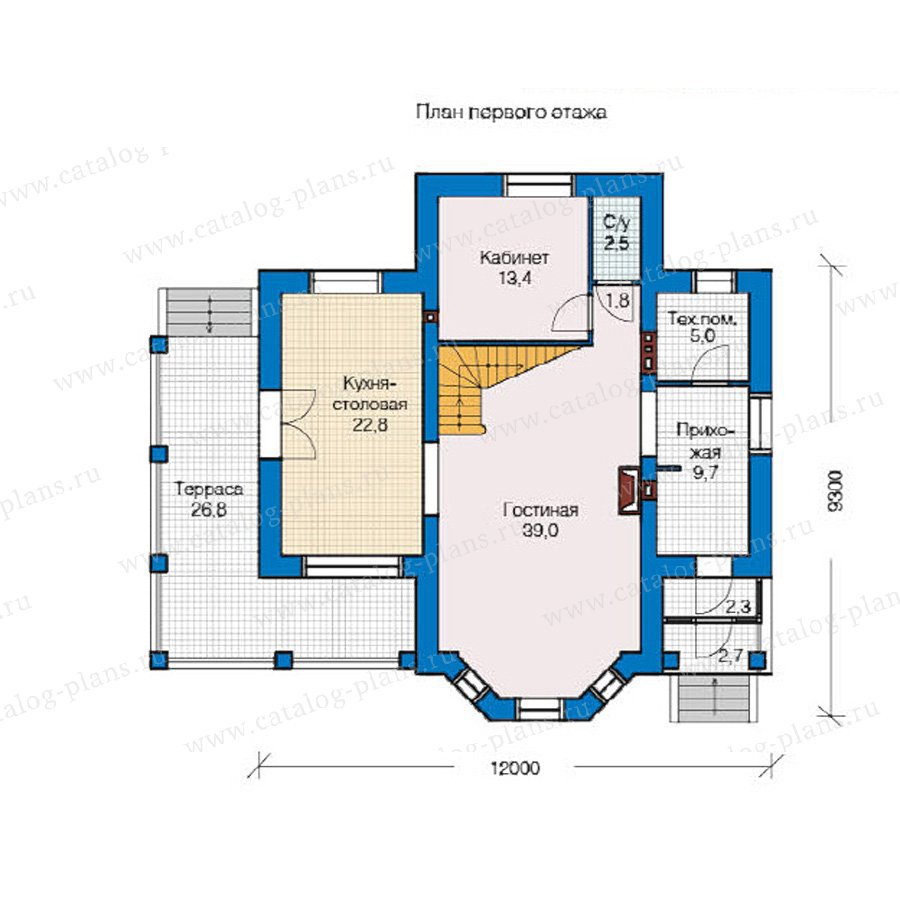 План 1-этажа проекта 49-14
