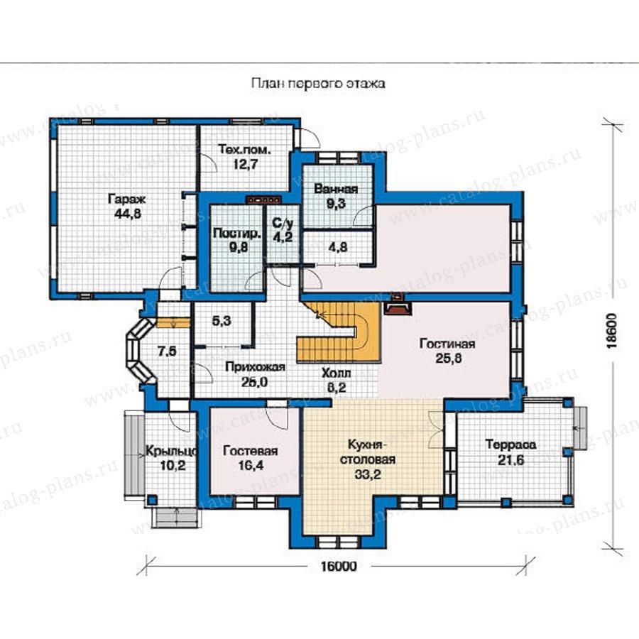 План 1-этажа проекта 49-26