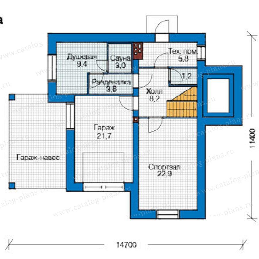 План 1-этажа проекта 49-22