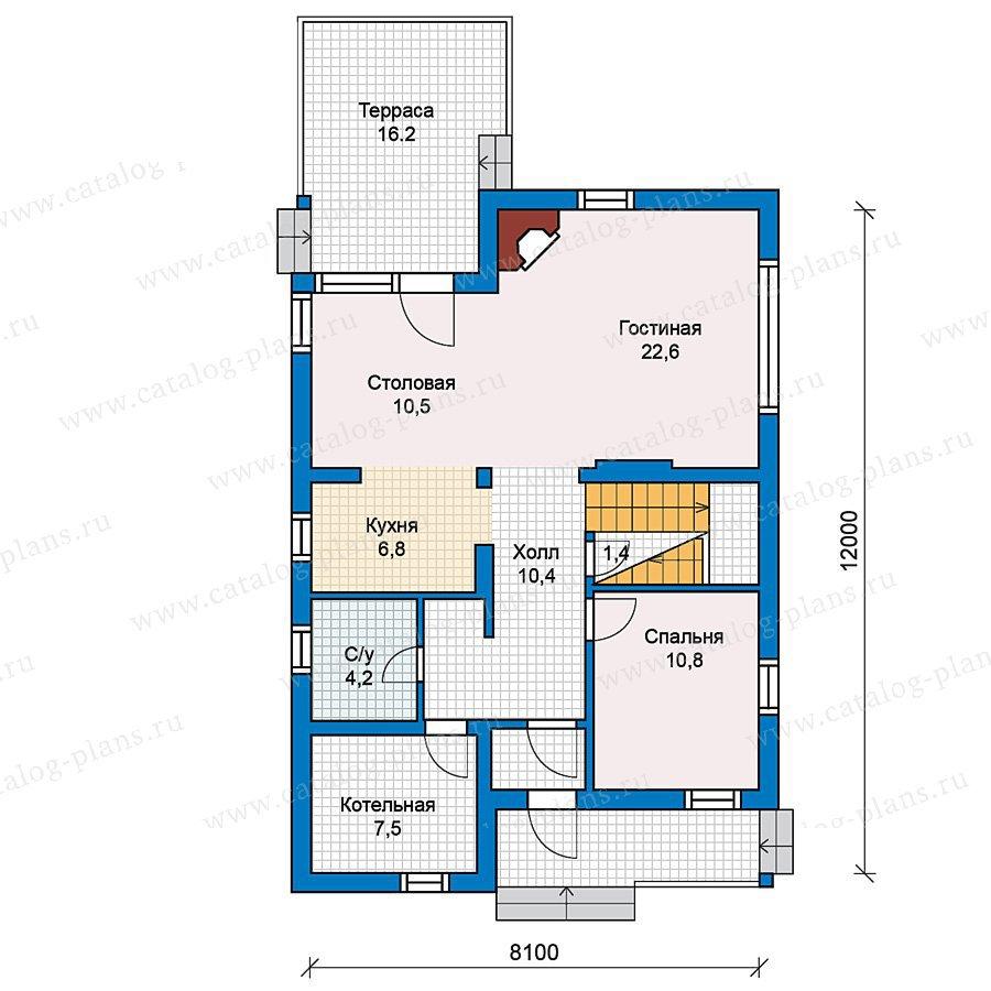 План 1-этажа проекта 49-71