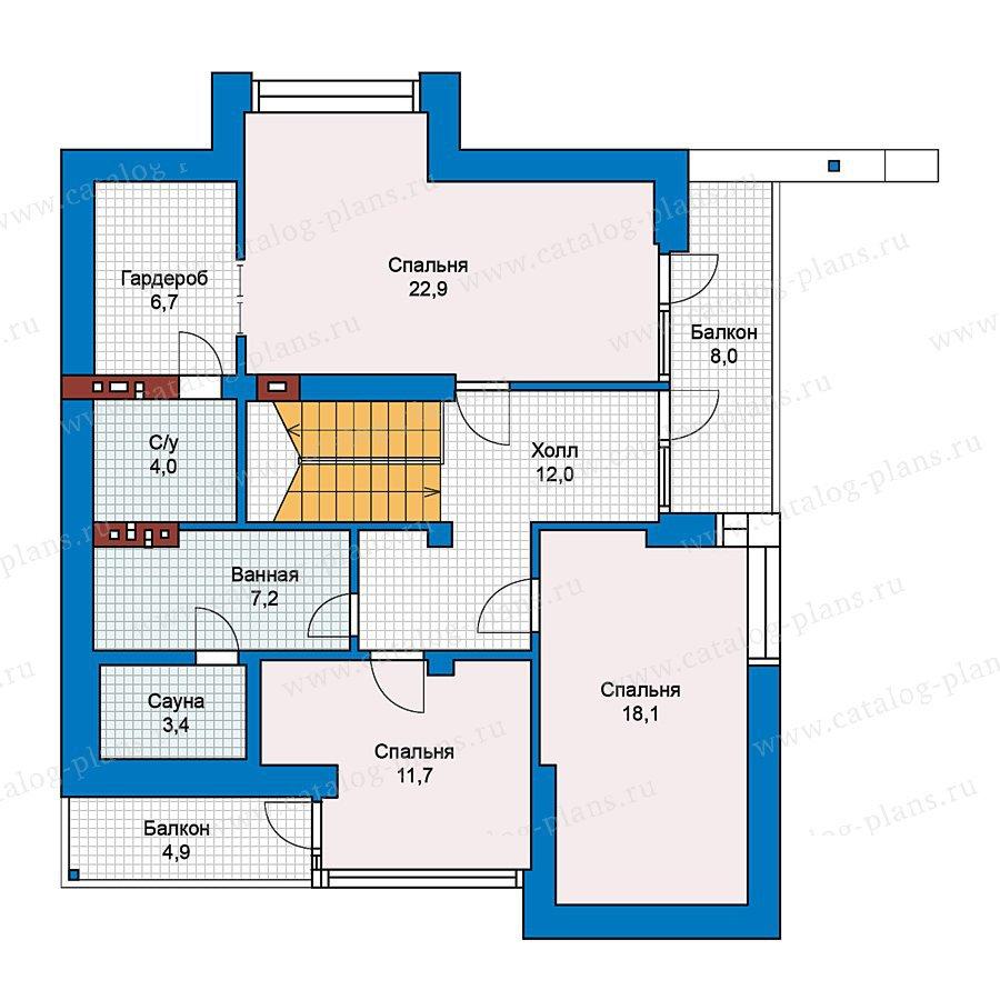 План 2-этажа проекта 49-70