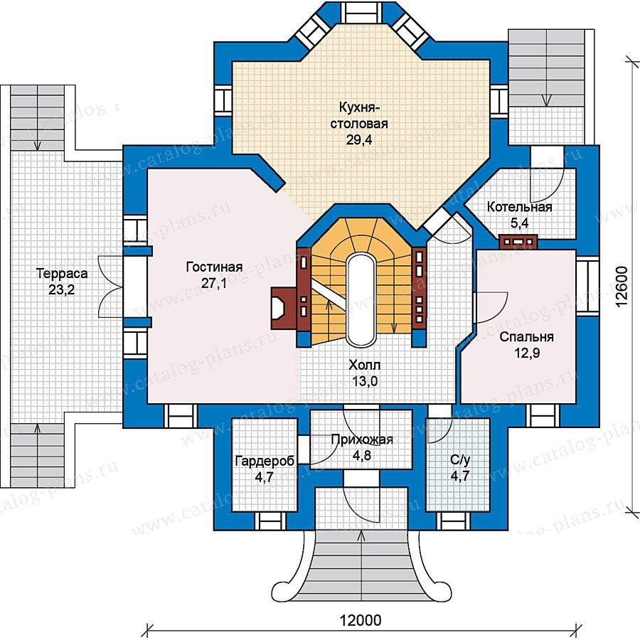 План 2-этажа проекта 49-68