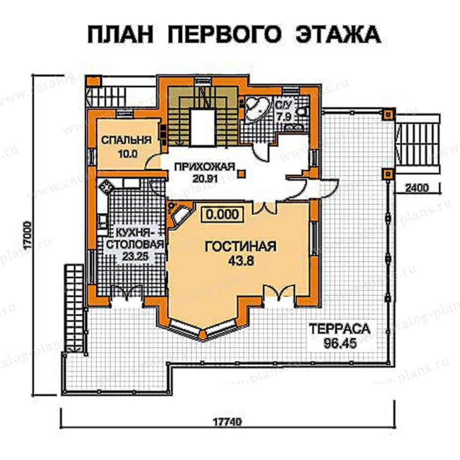 План 2-этажа проекта 49-75