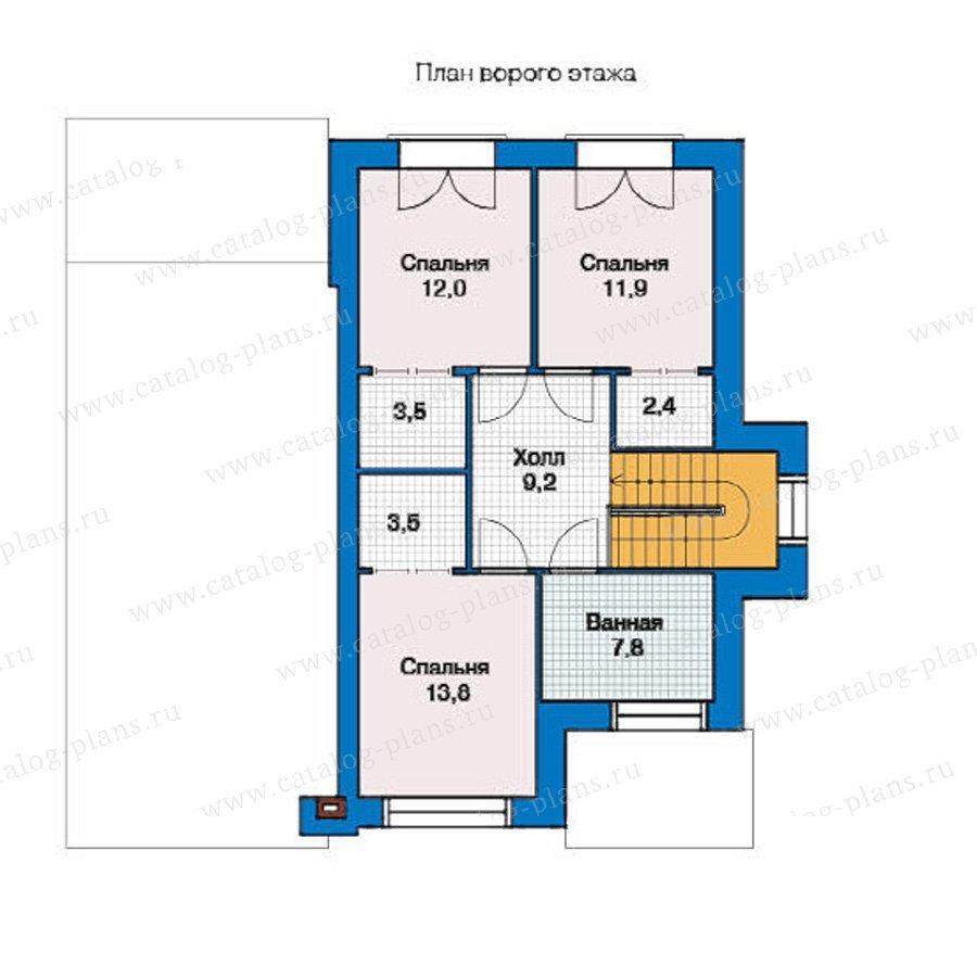 План 2-этажа проекта 49-45