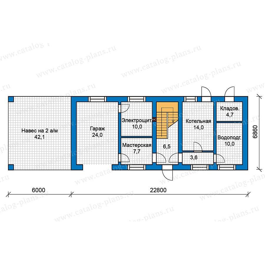 План 1-этажа проекта 49-52