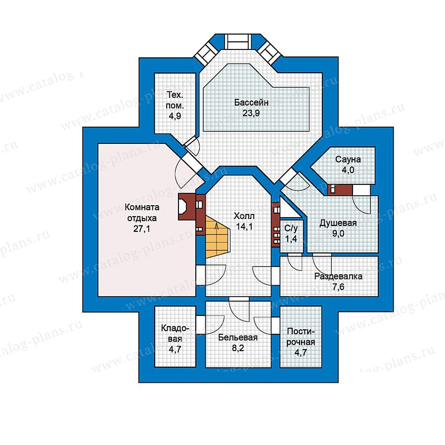 План 1-этажа проекта 49-68