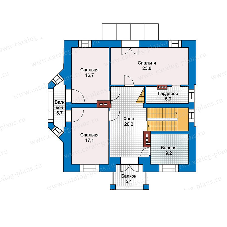 План 2-этажа проекта 49-63