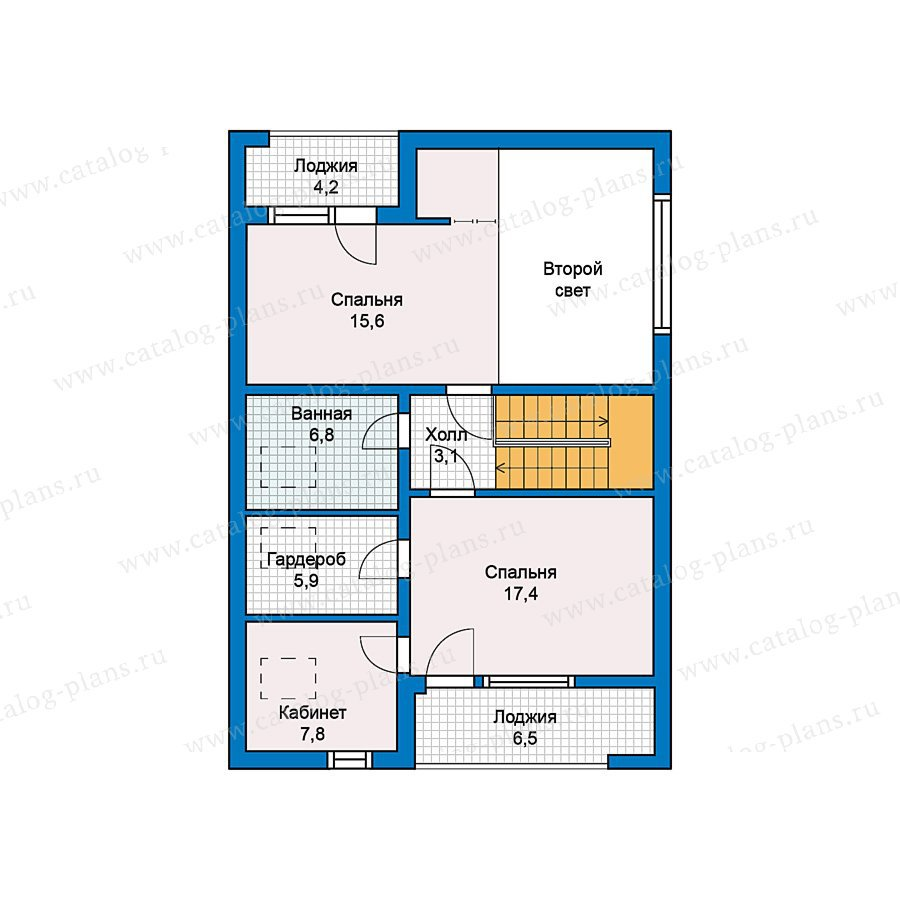 План 2-этажа проекта 49-71