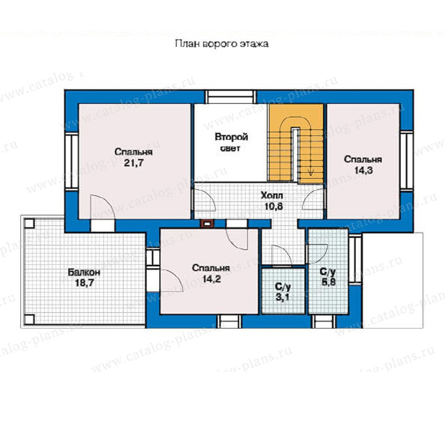 План 2-этажа проекта 49-44
