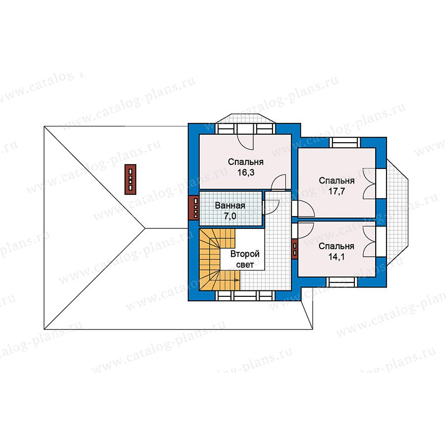 План 3-этажа проекта 49-73