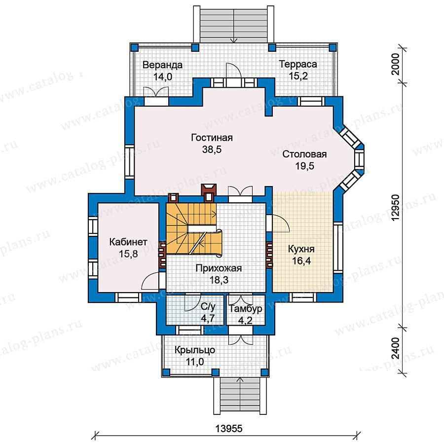 План 2-этажа проекта 49-77