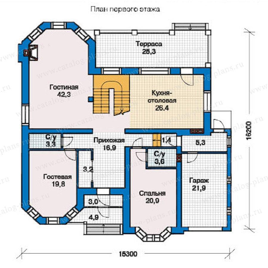 План 1-этажа проекта 49-46
