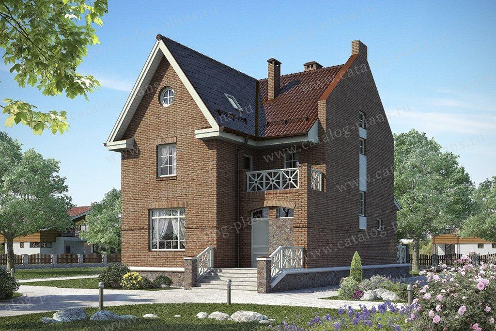 Проект жилой дом #49-65 материал - кирпич, стиль лофт