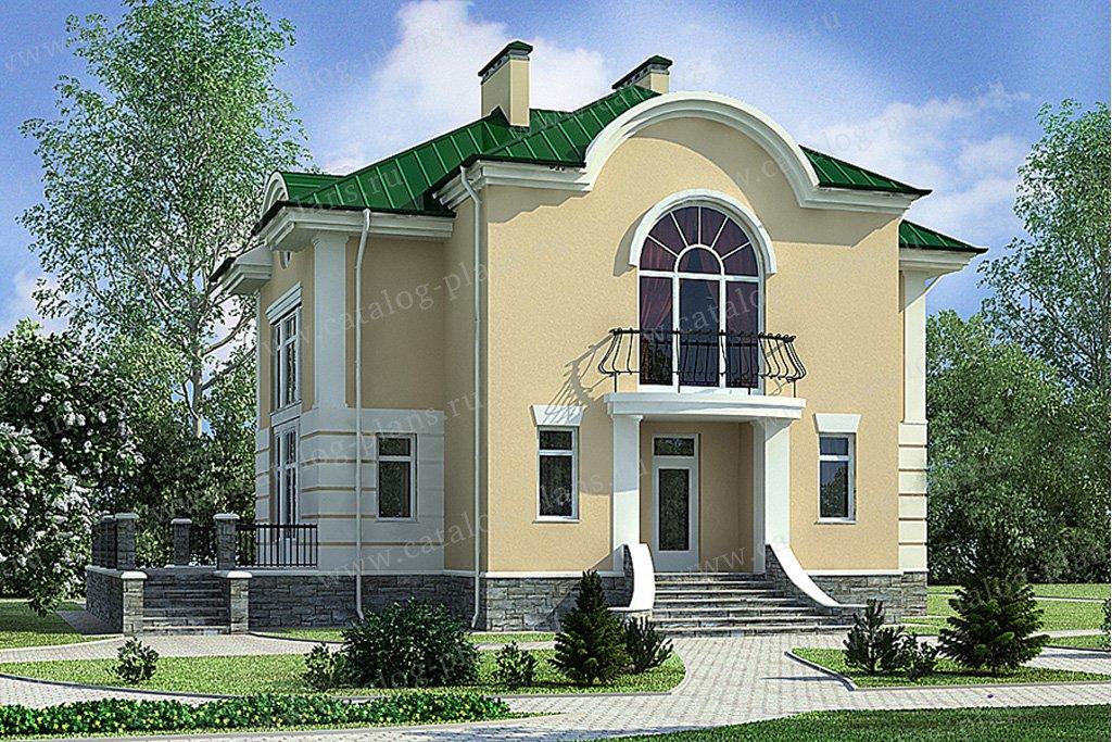 Проект жилой дом #49-68 материал - кирпич, стиль классический