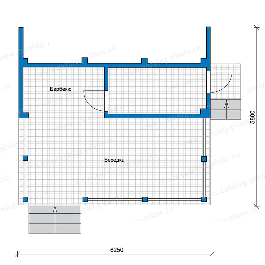 План 1-этажа проекта 49-74