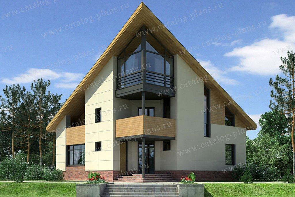Проект жилой дом #49-53A материал - кирпич, стиль хай-тек