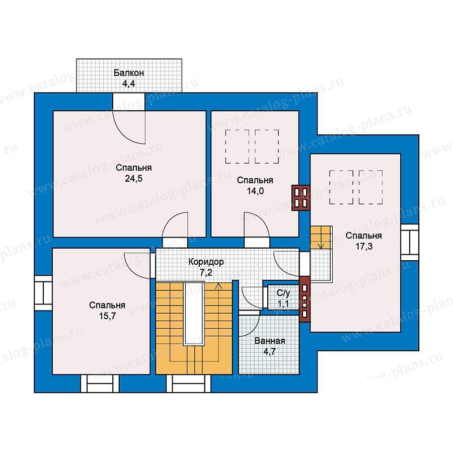 План 2-этажа проекта 49-51