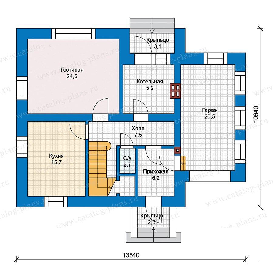 План 1-этажа проекта 49-51
